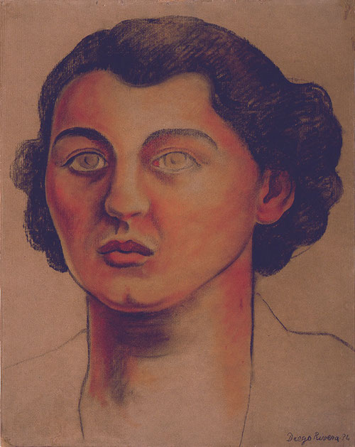 Diego's portrait of Frida's sister Cristina--one of the many women he slept with. This one was a dagger in the heart for Frida. It was the one affair she couldn't turn a blind eye to.