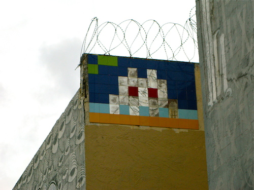 My first introduction to street art came in the form of Invader. He is quite popular in Paris. Here in Miami, his works have mostly been removed and/or defaced. They are incredibly rare to find in Florida.