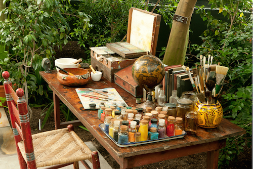 A recreation of  Frida's  work space: this is where the magic happened!